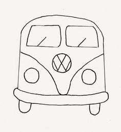 vw van coloring page volkswagen bus printable coloring sheet kids coloring pages pinterest