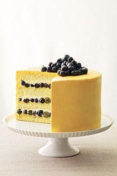 Wild Blueberry and Guanabana Bavarian Cream Layer Cake Recipe; Bake It Like You Mean It (BridesMagazine.co.uk)