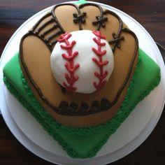 just the glove and ball...Garrett's personal cake