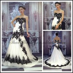 Black And White Wedding Dresses 2013 - Buy Black And White Wedding Dresses,White Black Lace Wedding Dress,Black And White Wedding Dresses 20...