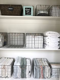9 Practical Linen Closet Organization Tips 9 practical tips for linen closet organization, a perfectly contained home organization project that will have you smiling each time you reach for a towel. Organisation Hacks, Storage Room Organization, Storage Ideas, Apartment Closet Organization, Kitchen Cupboard Organization, Clever Kitchen Storage, Craft Cabinet, Space Saving Storage, Organizar Closet