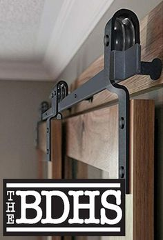 78'' Single Track Bypass© Sliding Barn Door Hardware Kit Side View