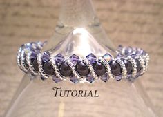 Tutorial PDF Right Angle Weave Swarovski Crystal and Pearl Bracelet with Twisting Seed Bead Overlay, Instant Download via Etsy