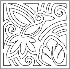 "Mola (9"") - Block #3 - Stencil"