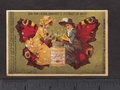 CA 1883 130 yrs Old Butterfly Girls Liebig s 0127 Jar Ladies English US Card | eBay