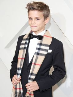 Romeo Beckham Burberry campaign: see the tiny star in the brand's new ad campaign! via @WhoWhatWear