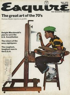 This one comes from Esquire in May 1974. The esteemed Norman Mailer, reports on the brand new at the time youth trend that was graffiti. The amazing cover image is by Jean Paul Goude who later went on to date and create all the seminal Grace Jones artwork and imagery.