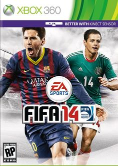 "Official FIFA 14 cover for North America featuring Javier ""Chicharito"" Hernandez and Lionel Messi"