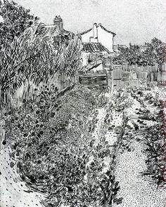 Van Gogh Drawings, Van Gogh Paintings, Pencil Drawings, Vincent Van Gogh, Van Gogh Arte, Van Gogh Landscapes, Virtual Museum Tours, Art Alevel, Black And White Painting