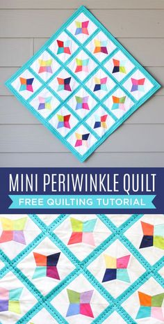Make a Mini Periwinkle Quilt with this Free Step by Step Tutorial!