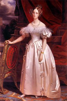 Louise Marie d'Orléans by Claude-Marie Dubufe (location unknown to gogm) slightly cropped