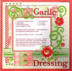 Recipes - Garlic Dressing