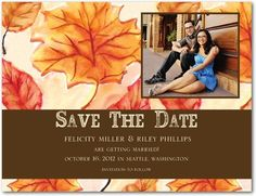 Save the Date Postcards Autumn Event - Front : Chocolate
