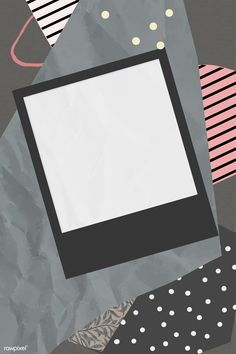 Blank photo frame on scrapped paper background vector | premium image by rawpixel.com / nunny