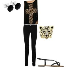 leopard, created by basaker on Polyvore
