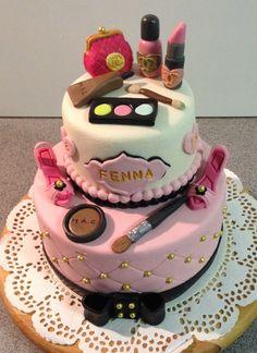 Make-up taart voor Fenna