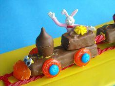 Six Sisters' Stuff: Snicker's Bar Easter Train