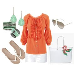 Green and Orange, created by dianna-didomenico.polyvore.com
