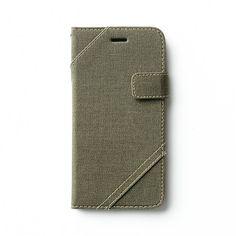 Stoere iPhone 6 Cambridge Diary - Khaki. Bekijk deze en andere telefoonhoesjes op http://telefoonhoesjes-shop.nl