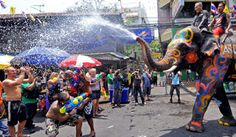 *The Songkran Festival, Thailand* The #Songkran_Festival, also known as Thai New year will be celebrated from 13-15 April. During this festival, Thai people sprinkle water on their family members and friends for good fortune. Although the festival is celebrated officially for 3 days, but its preparations begins many days before. Pre book a car to Thailand for this wonderful festival with http://www.carrentalworld.com.au/thailand.php and have fun #thailandfestivals #carrentalthailand