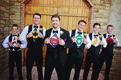 Wedding Picture Idea,Groomsmen, Super Hero Shirts, - Sundance Photography