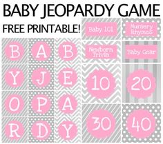 Baby Jeopardy! Make Baby Showeru0027s Fun With New Games! | Baby Shower Games |  Pinterest | Gaming, Babies And Baby Shower Games