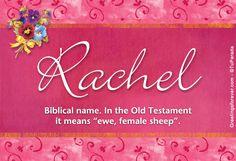 The origin of the name Rachel