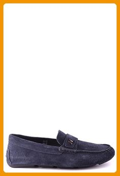 Hogan Men's Mcbi148175o Blue Suede Loafers