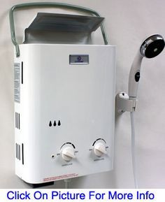 The Eccotemp L5 tankless propane water heater is ideal for portable use. It includes a gas hose and regulator to connect to a 10 or 20 pound BBQ type LP bottle. The intake adapter connects to a standard garden hose. It works great with a 12 volt demand pump when a pressurized water source is not available.