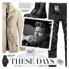 """""""Fall Fashion:Street Style"""" by pokadoll ❤ liked on Polyvore featuring Hedi Slimane, Emporio Armani, Men's Society, men's fashion, menswear, polyvoreeditorial and polyvoreset"""