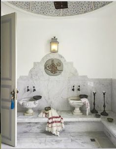 """""""That bathroom, looking like something you would find in a Hammam (turkish bathroom) is, without a doubt, one of a kind."""""""