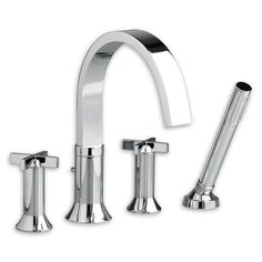 Found it at Wayfair - Berwick Tub Filler with Cross Handles and Personal Shower