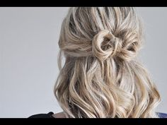 half-up: wrapping hair into a Little Bow   http://www.thesmallthingsblog.com/2013/04/a-little-bow-hair-tutorial.html