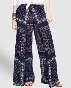 Pantalón palazzo de mujer Denim & Supply Ralph Lauren doble capa