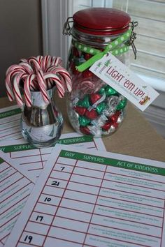 Light 'em Up - 25 days of Christmas giving/random acts of kindness, includes printables and specific ideas and suggestions