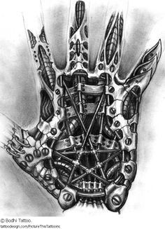 Biomechanical Tattoos, Designs And Ideas : Page 10