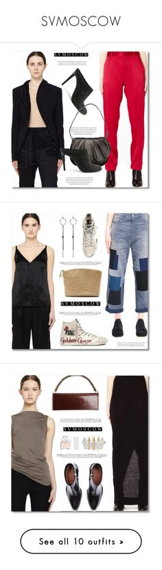 """SVMOSCOW"" by defivirda ❤ liked on Polyvore featuring women, fashionset, svmoscow, Haider Ackermann, The Row, Golden Goose, Ann Demeulemeester, Rick Owens Lilies, Vetements and Marni"