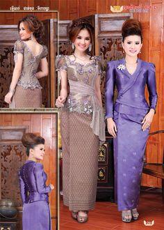 K Thai Traditional Dress, Traditional Fashion, Traditional Outfits, Kebaya Lace, Kebaya Dress, Gaun Dress, Filipiniana Dress, Cute Dresses, Girls Dresses