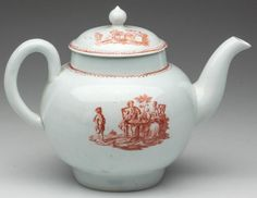 LIVERPOOL PORCELAIN (RICHARD CHAFFERS) TEAPOT AND COVER 1760-1780
