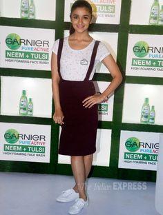 Alia Bhatt at a promotional event for Garnier.