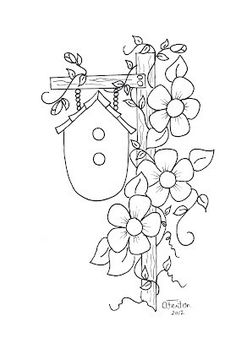 Coloring page turn embroidery. Embroidery Stitches, Hand Embroidery, Embroidery Designs, Broderie Primitive, Applique Patterns, Tole Painting, Coloring Book Pages, Needlework, Cross Stitch