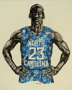 Michael Jordan 'Carrier Classic' Art