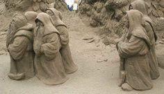 *Sand sculpture