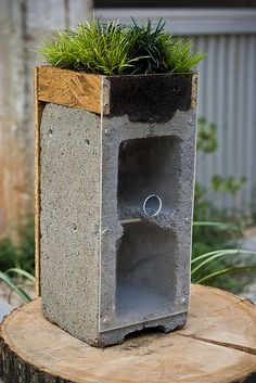 cinder block--wonder if this would actually work?