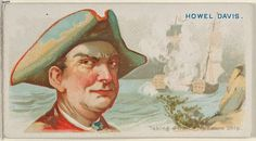 """Howell Davis, Taking a Dutch Treasure Ship, from the """"Pirates of the Spanish Main"""" series (N19), for Allen & Ginter Brand Cigarettes, c1888."""