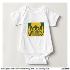 Cute Jamaican Baby Clothes Vintage Rastas Colour One Lovely Hakuna Matata. #Cute #Jamaican #Baby #Clothes