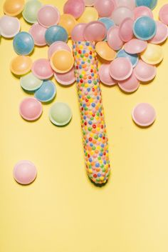 """Inspired by candies the dildo series """"silicone sweets"""" is made of health-harmless silicone and are the result of a cooperation with the Dresden-based dildo manufacturer """"SelfDelve"""".    design: studio kollektiv plus zwei  manufacturer: www.selfdelve-shop.de  image: www.karinhacklphotos.com Dildo, Dresden, Studio, Candies, Sweets, Inspired, Health, Shop, Inspiration"""