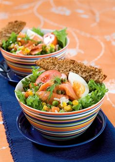 Marinoitu riisi-lohisalaatti | K-ruoka