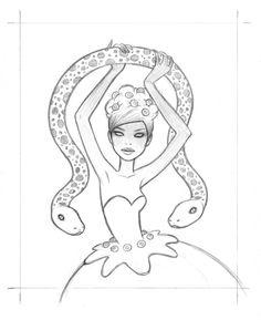 Tara McPherson   ART Drawings Drawings Ghost Dancer Drawing