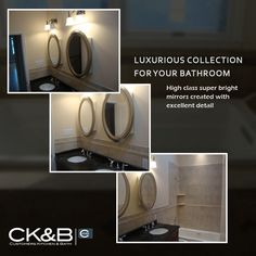 Interior Decorating, Interior Design, Remodel Bathroom, High Class, Bathroom Designs, Kitchen And Bath, Mirrors, Tiles, Like4like